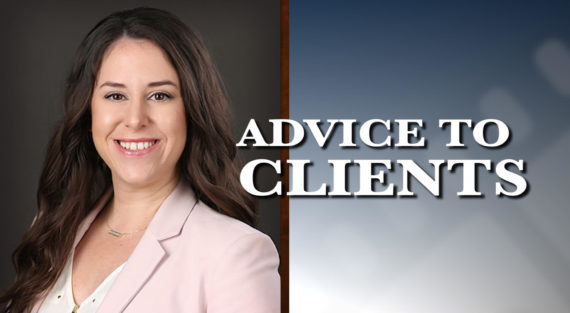 Graphic of Minnesota Bankruptcy Attorney Alyssa George with the words Advice To Clients