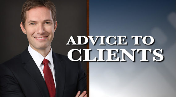 Graphic of Minnesota Bankruptcy Attorney Andrew Walker with the words Advice To Clients