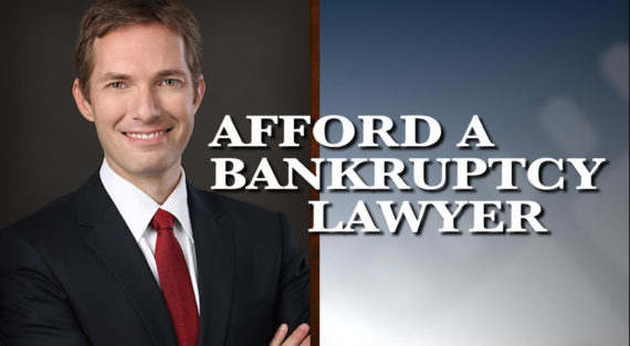 Graphic of Minnesota Bankruptcy Attorney Andrew Walker with the words Afford A Bankruptcy Lawyer
