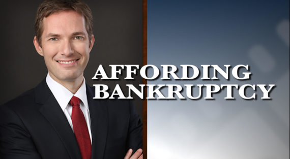 Graphic of Minnesota Bankruptcy Attorney Andrew Walker with the words Affording Bankruptcy