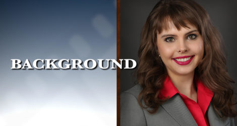 Graphic of Minnesota Bankruptcy Attorney Anastasia Kazmina with the word Background