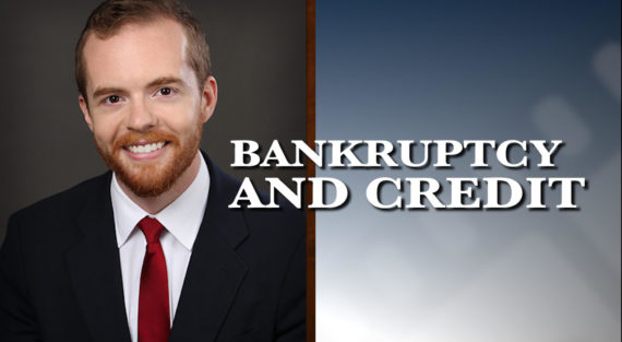 Graphic of Minnesota Bankruptcy Attorney Bennett Hartz with the words Bankruptcy and credit