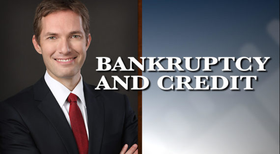 Graphic of Minnesota Bankruptcy Attorney Andrew Walker with the words Bankruptcy And Credit