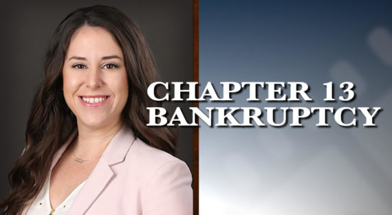 Graphic of Minnesota Bankruptcy Attorney Alyssa George with the words Chapter 13 Bankruptcy