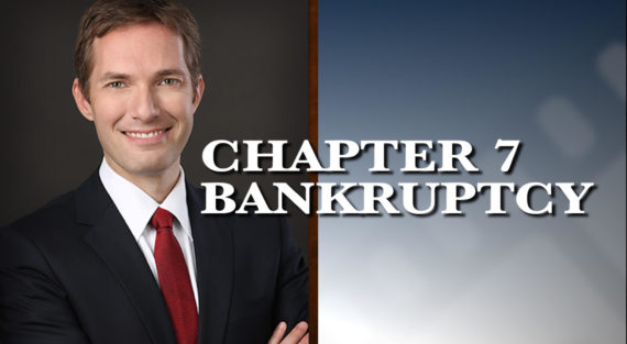 Graphic of Minnesota Bankruptcy Attorney Andrew Walker with the words Chapter 7 Bankruptcy