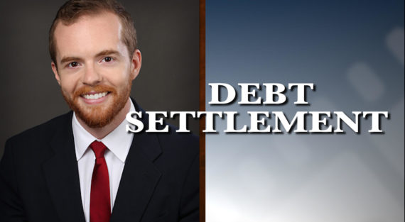 Graphic of Minnesota Bankruptcy Attorney Bennett Hartz with the words Debt Settlement