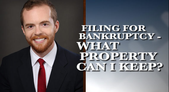 Graphic of Minnesota Bankruptcy Attorney Bennett Hartz with the words Filing for Bankruptcy - What Property Can I Keep?