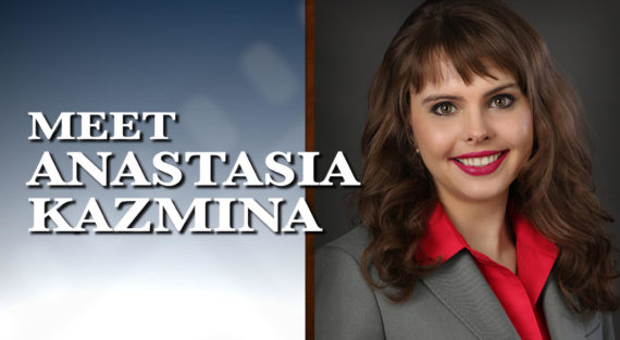 Graphic of Minnesota Bankruptcy Attorney Anastasia Kazmina with the words Meet Anastasia Kazmina