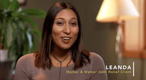 Leanda - Walker and Walker Debt Relief Client