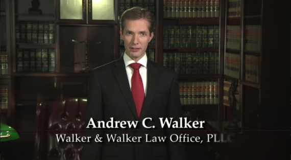 Andrew Walker, Minnesota Bankruptcy Attorney stood in his office in front of bookshelves full of law books